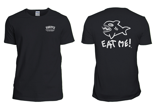 Fuzzy's NEW Distressed Eat Me Tee