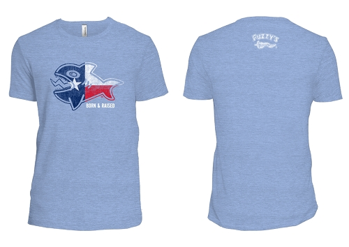 Fuzzy's Texas Flag Fish Tee