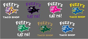 Fuzzy's Two Color Decals